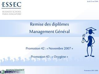 Remise des diplômes Management Général