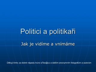 Politici a politikaři