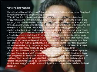 Anna Politkovszkaja
