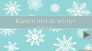 Rijmen met de winter Groep 1 en 2