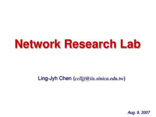 Network Research Lab