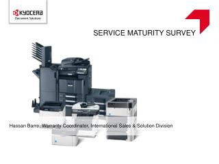 SERVICE MATURITY SURVEY