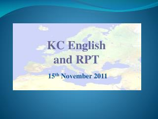 KC English and RPT