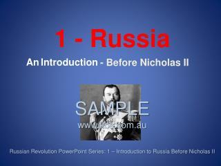 - Before Nicholas II