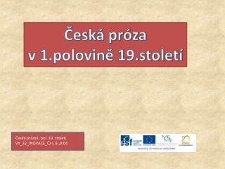 Česká próza  v 1.polovině 19.století