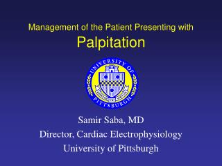 Management of the Patient Presenting with Palpitation