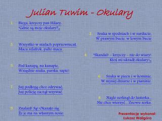 Julian Tuwim - Okulary