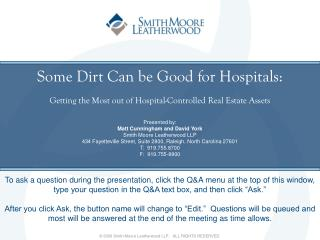 Some Dirt Can be Good for Hospitals: