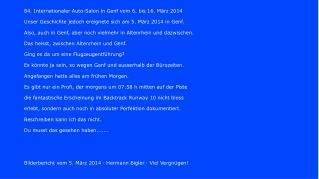 84. Internationaler Auto-Salon in Genf vom 6. bis 16. März 2014