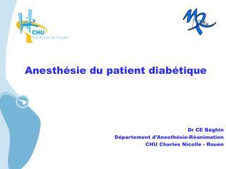 Anesthésie du patient diabétique