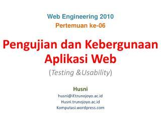 Web Engineering 2010 Pertemuan ke-06