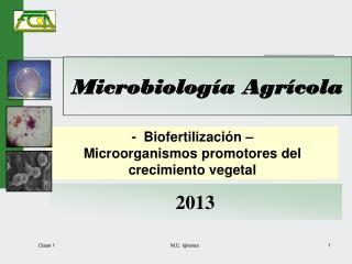 Microbiolog�a Agr�cola