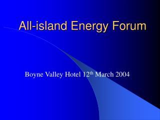 All-island Energy Forum