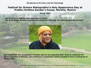 Jay Sri Sriman Mahaprabhu Mahotsav ki jay!!!