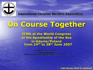 On Course Together ICMA at the World Congress of the Apostleship of the Sea