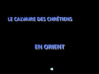 LE CALVAIRE DES CHRÉTIENS