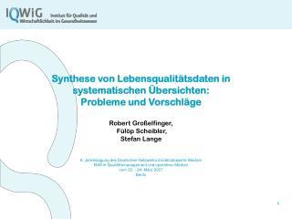 Problem bei der Synthese von LQ-Daten: