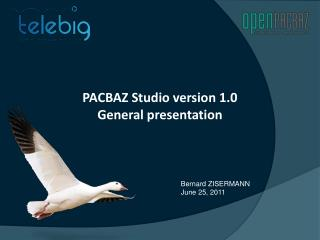 PACBAZ Studio version 1.0 General presentation