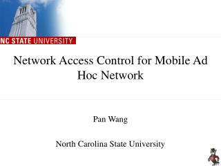 Network Access Control for Mobile Ad Hoc Network