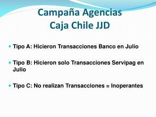 Campaña Agencias  Caja Chile JJD