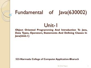 523-Narmada College of Computer Application- Bharuch