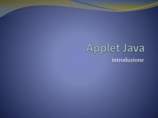 Applet Java