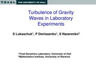 Turbulence of Gravity Waves in Laboratory Experiments