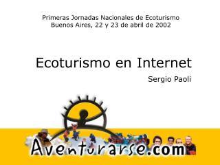 Ecoturismo en Internet