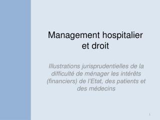 Management hospitalier et droit
