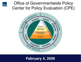Office of Governmentwide Policy Center for Policy Evaluation CPE