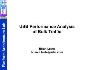 USB Performance Analysis  of Bulk Traffic