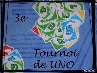 3e Tournoi  de UNO