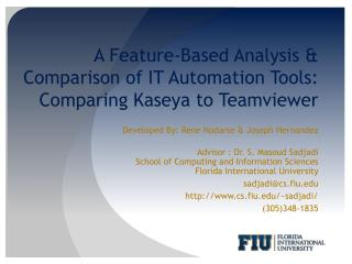 A Feature-Based Analysis & Comparison of IT Automation Tools:  Comparing Kaseya to  Teamviewer