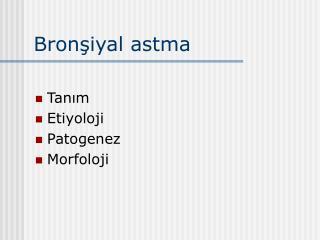 Bronşiyal astma