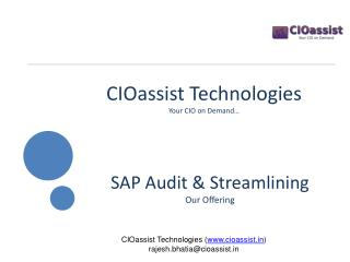 CIOassist  Technologies Your CIO on Demand…
