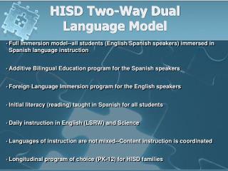 Helms Dual Language