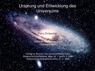 Ursprung und Entwicklung des Universums
