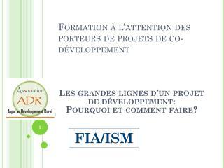 Formation à l'attention des porteurs de projets de  co -développement