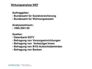 Wirkungsanalyse WEF