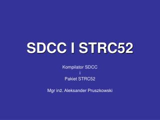 SDCC I STRC52