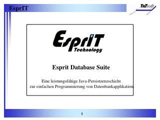 Esprit Database Suite