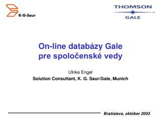 On-line databázy Gale   pre spoločenské vedy