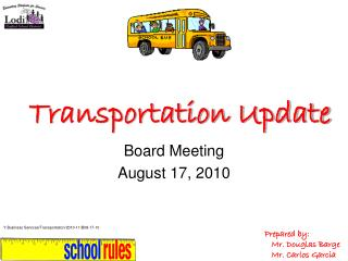 Transportation Update