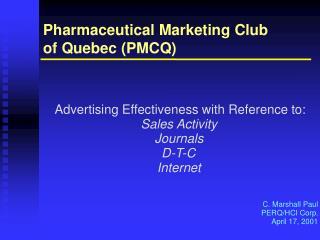 Pharmaceutical Marketing Club
