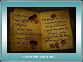 Poema de Santa Teresa de Jesús…