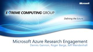 Microsoft Azure Research Engagement