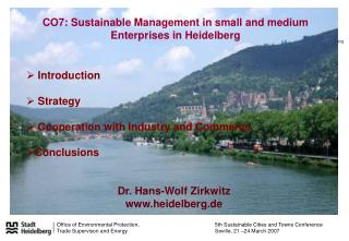 CO7: Sustainable Management in small and medium Enterprises in Heidelberg