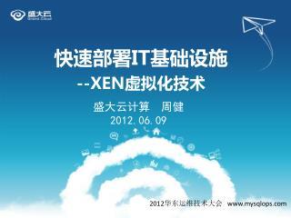 快速部署 IT 基础设施 --XEN 虚拟化技术