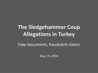 The Sledgehammer Coup Allegations in Turkey