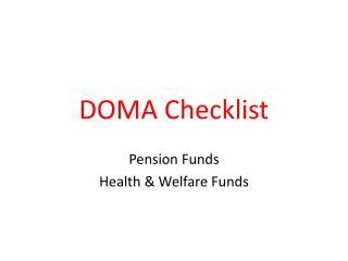 DOMA Checklist